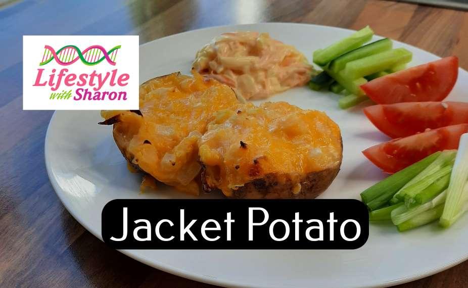 Jacket Potato Stuffed with Cheese & Onion