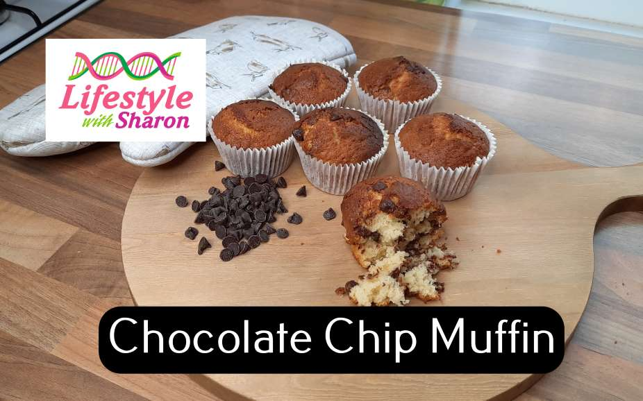 Muffin recipe - chocolate chip - lifestyle with sharon