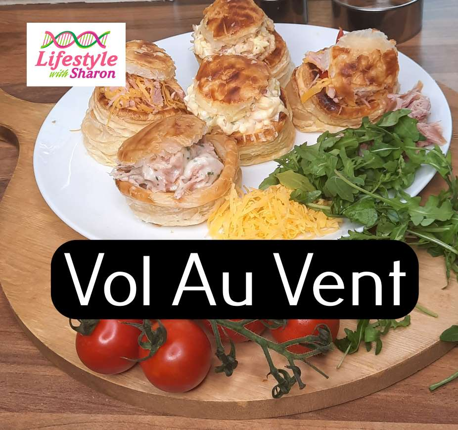 Vol Au Vents - recipe showing various types of filling