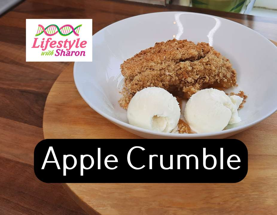 apple crumble recipe - lifestylewithsharon